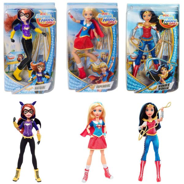 DC Super Hero Girls Batgirl, SuperGirl or Wonderwoman 12inch Figures